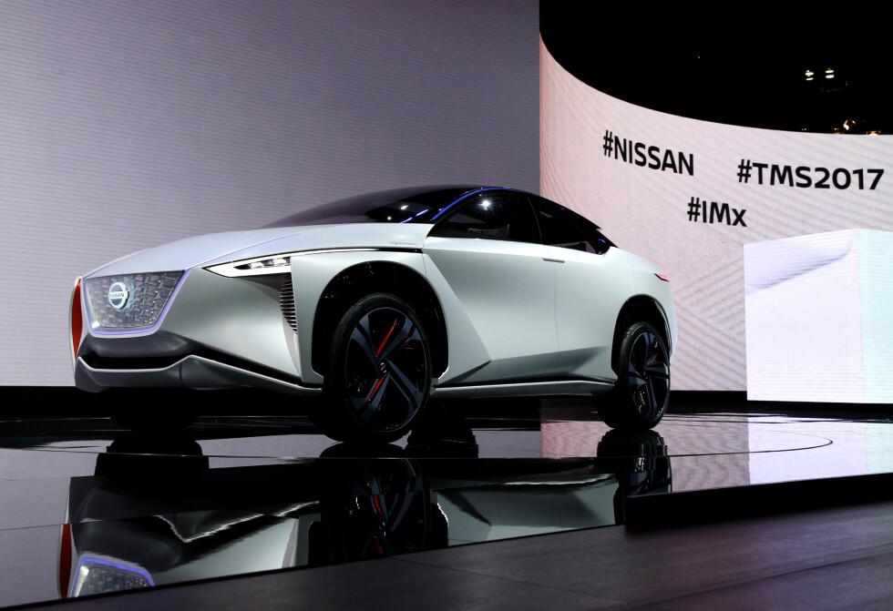 <strong>NISSAN IMX:</strong> Konsept-elbilen fra Nissan ble avduket onsdag. Foto: REUTERS/Toru Hanai
