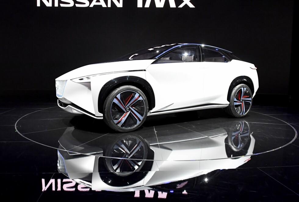 <strong>NISSAN IMX:</strong> Konsept-elbilen fra Nissan ble avduket onsdag. Foto: AFP PHOTO / TOSHIFUMI KITAMURA