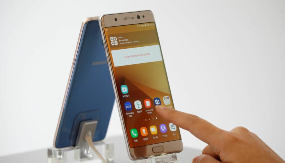 SKANDALETELEFONEN: Samsung var ikke helt heldig med sin Galaxy Note 7. Foto: KIrsti Østvang