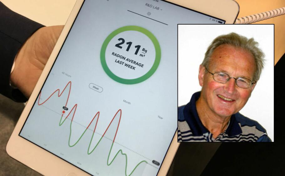HELSESKADELIG ELLER -BRINGENDE?: De lærde strides om all radoneksponering utgjør en helsefare, eller om små konsentrasjoner kan være fordel for kroppen. Thormod Henriksen, pensjonert professor i biofysikk og medisinsk fysikk ved Universitetet i Oslo, hevder det siste. Foto: Dinside/UiO