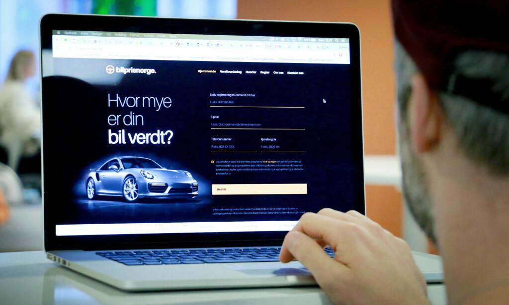 HVOR MYE ER BILEN VERDT? Forbrukerombudet og KNA kritiserer bilprisnorge.com og carprice.no for å ikke oppgi priser før handelen er i boks.<br>Foto: Ole Petter Baugerød Stokke
