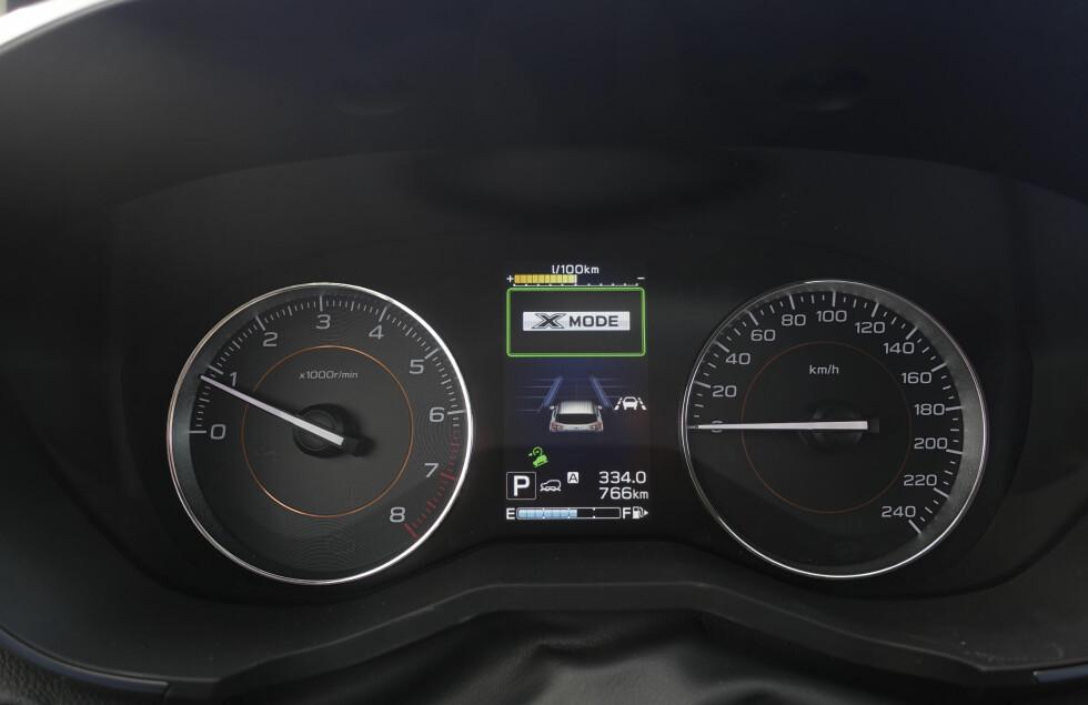 DIGITALT: Den digitale kjørecomputeren er rikholdig. Foto: Rune M. Nesheim