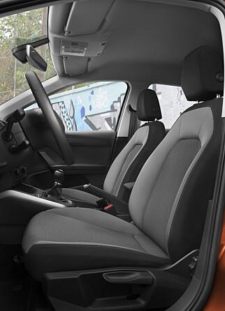 SITTER GODT: Vi opplevde at setene ga både god støtte og god sittekomfort. Foto: Seat