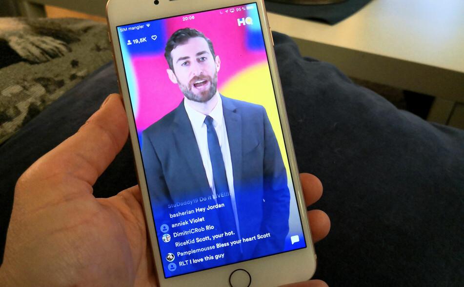 LIVE: Denne quiz-appen foregår som et live-show, med tusenvis av deltakere. Foto: Pål Joakim Pollen