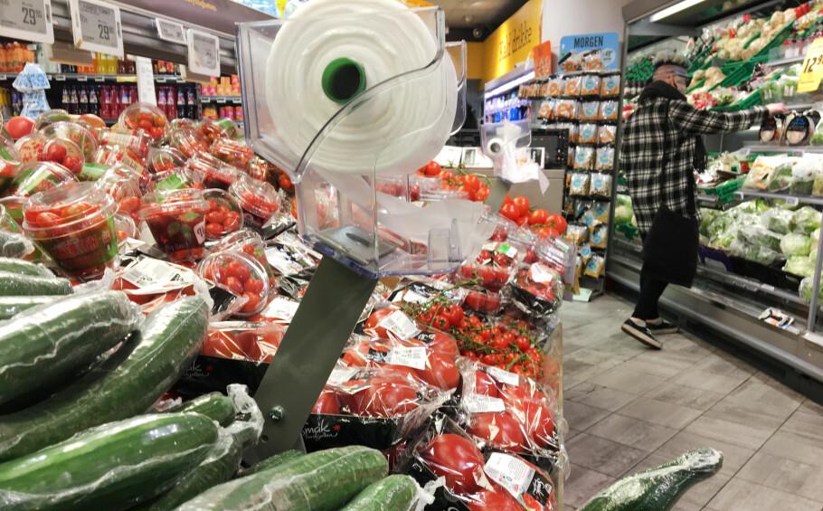 BRA MED PLASTEMBALLASJE: Det hevder Nofima, som har sett på hvordan emballasje påvirker holdbarheten på blant annet frukt og grønt. Foto: Berit B. Njarga