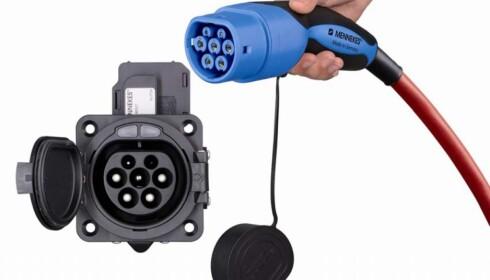 TYPE 2: Ladestasjoner med denne typen kontakt er attraktive for elbil-eiere på boligjakt. Foto: Mennekes