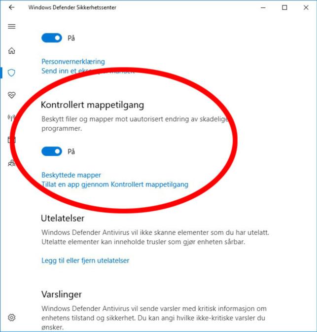 image: Slik sikrer du Windows 10 mot løsepengevirus
