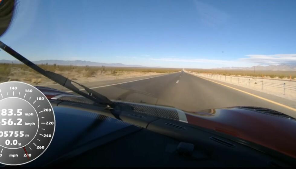 Se rekorden: 447 km/t på en offentlig vei