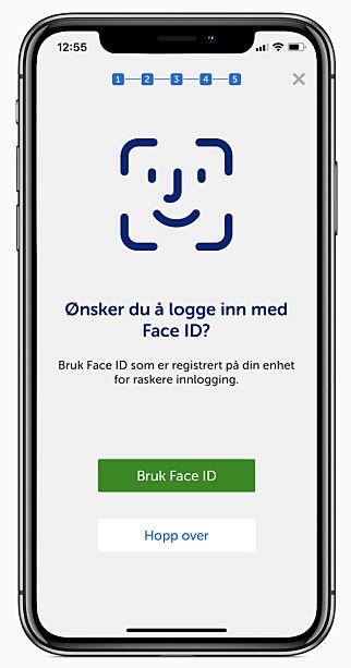 SPAREBANK 1 MED FACE ID: I Sparebank 1 sin app får du nå muligheten til å logge inn med Face ID på iPhone X. Foto: Sparebank 1