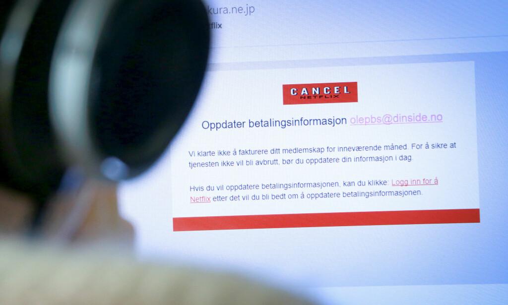 TAR ALDRI SLUTT: Nok en gang er Netflix-brukere offer for en ny e-postsvindel. Foto: Ole Petter Baugerød Stokke