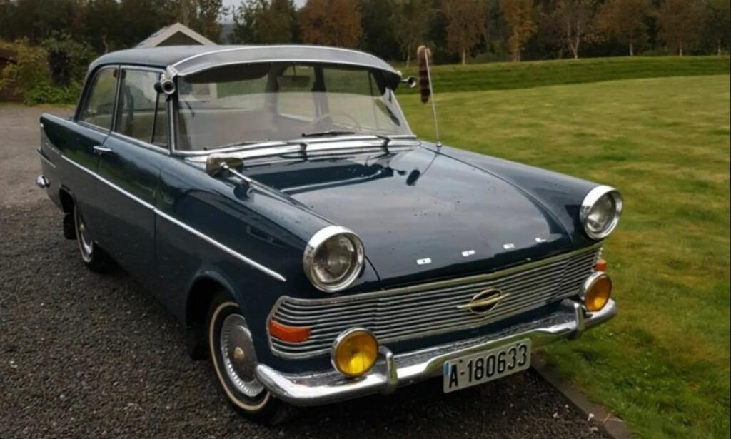 VETERAN TIL SALGS: En Opel Rekord Olympia fra 1961. Foto: Arne Karlsnes