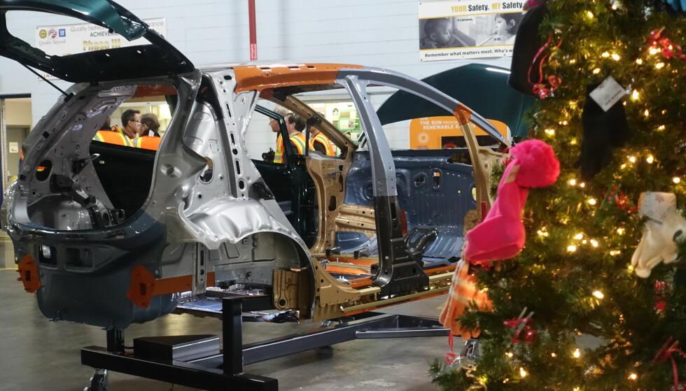 AMPERA-E UNDER PRODUKSJON: Dinside besøkte GM-fabrikken i Detroit i desember 2016.Foto: Fred Magne Skillebæk