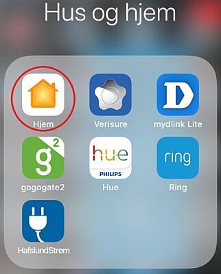 MYSTISK APP: Ikke alle iOS-brukere vet hva symbolet merket «Hjem» skal brukes til. Foto: Tore Neset