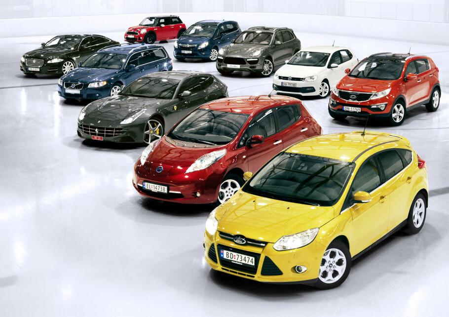 VANSKELIG Å GJETTE BILFARGE? Her er tallene du trenger for å spille «bilfargeleken». Illustrasjonsfoto: Rune Bendikson