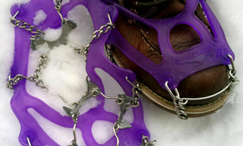 TESTVINNEREN: Snowline Spikes Chainsen Light ble Dinsides favoritt da vi testet brodder for en tid tilbake. Foto: Krisitn Sørdal