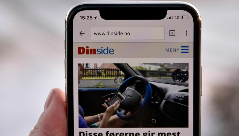 IKKE SOM DE ANDRE: Apple har gjemt mye snadder bak den sorte leppa på toppen, men den står litt i veien for nyttig informasjon som batteriprosent og Bluetooth-tilkobling. Foto: Pål Joakim Pollen