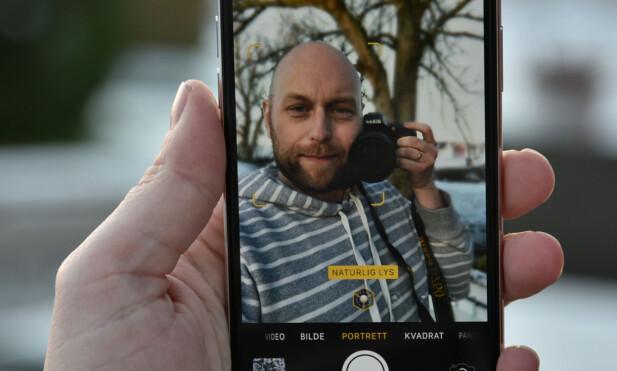 NYE TRIKS: Med to frontkameraer, kan du nå bruke portrettmodusen på selfie-bilder. Foto: Pål Joakim Pollen