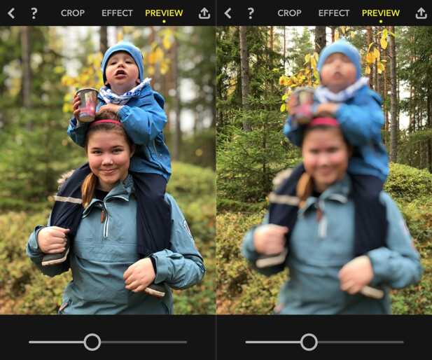 Focos lar deg velge fokuspunkt etter at du har tatt et portrettbilde med iPhone. Foto: Pål Joakim Pollen