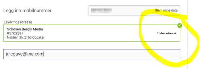 LITEN SKRIFT: Det er ikke noe problem for en oppegående nettbruker å finne ut hvordan adressen kan endres. Men helt åpenbart er det ikke i alle norske nettbutikker.