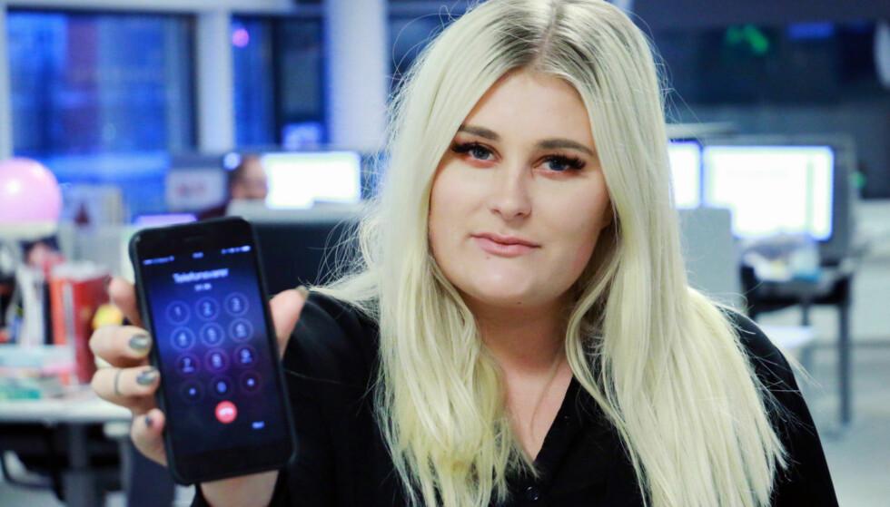 <strong>OPPRINGT AV TULLETELEFON:</strong> Mina Knudsen fikk en melding på telefonsvareren fra 21999137. Der sa en mann at han hadde anmeldt henne til politiet, og at han eventuelt skulle ta hånd om henne selv. Slike tulletelefoner ser ut til å bre om seg i Norge. Foto: Ole Petter Baugerød Stokke