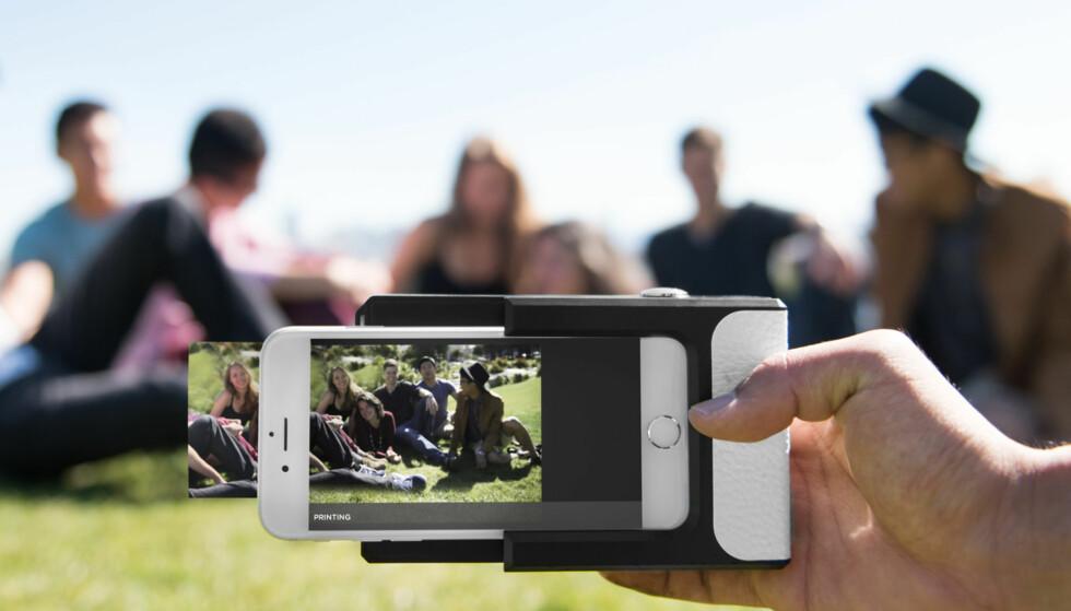 MOBILPRINTER: Ikke la minnene bli liggende kun på telefonen. Med en slik kan du printe ut bilder på stedet. Foto: Prynt