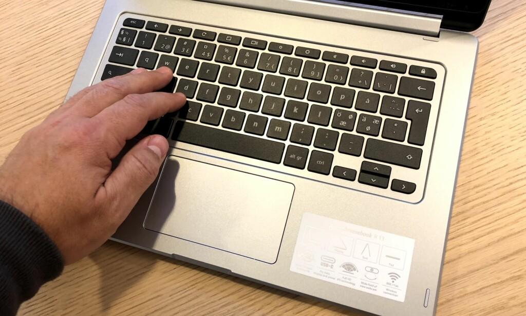 EKSEMPLARISK: Tastaturet er fast og nærmest lydløst under bruk. Foto: Bjørn Eirik Loftås