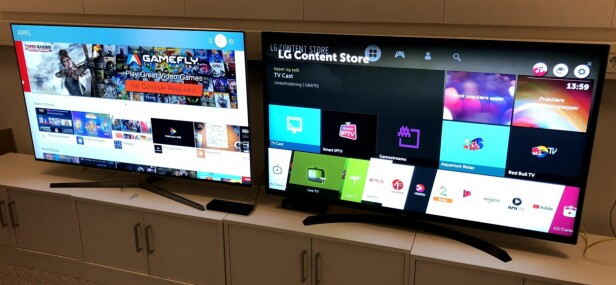 APP-BUTIKKER: Samsung og LG har blant de fyldigste app-butikkene på TV-markedet. Foto: Bjørn Eirik Loftås