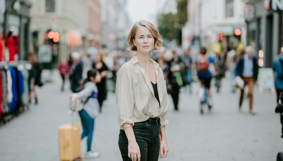 OPPGITT: Anja Bakken Riise, leder for Framtiden i våre hender, synes hele Black Friday-konseptet er uansvarlig, og ønsker å innføre en etikklov, som gjør det lettere for forbrukerne å velge miljøvennlig når de handler. Foto: Renate Madsen.