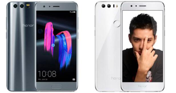 Honor 9 (til venstre) og Honor 8 (til høyre). Foto: Huawei