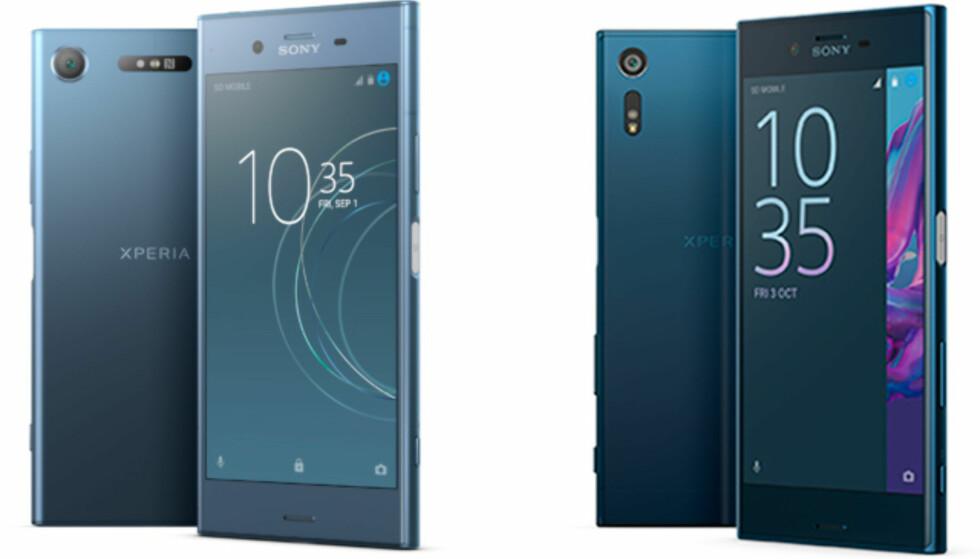 Sony Xperia XZ1 (venstre) og Sony Xperia XZ (høyre). Foto: Sony