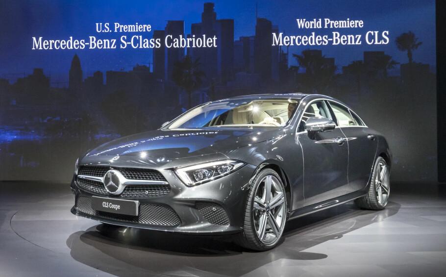 VIST I LOS ANGELES: Her presenteres for første gang Mercedes' tredje generasjon CLS. Foto: Daimler