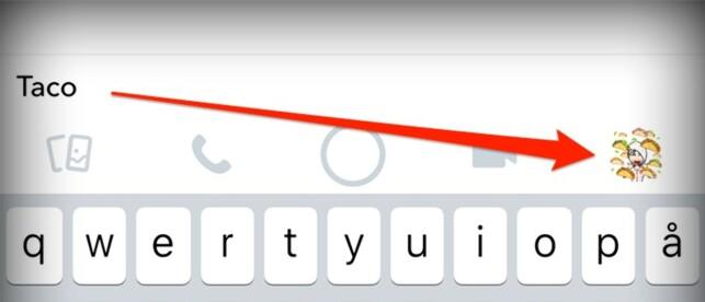 EMOJI-SØK: I stedet for å lete opp taco-emojien av deg selv, søk det opp i stedet. Skjermbilde: Kirsti Østvang