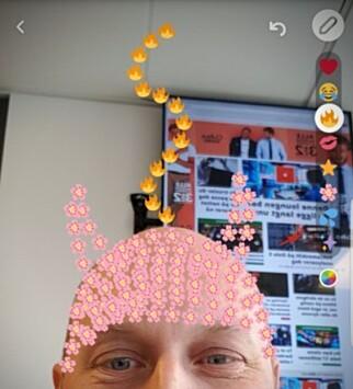 TEGN MED EMOJI: Lei ansiktsfiltere? Tegn med emoji-ikoner i stedet! Foto: Pål Joakim Pollen