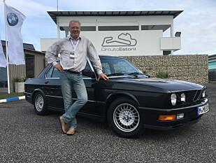 DRØMMEBILEN: Vi fikk anledning til å kjøre den opprinnelige M5 fra 1984 (her som -86-modell) - en 33 år gammel drøm som gikk i oppfyllelse! Foto: Privat