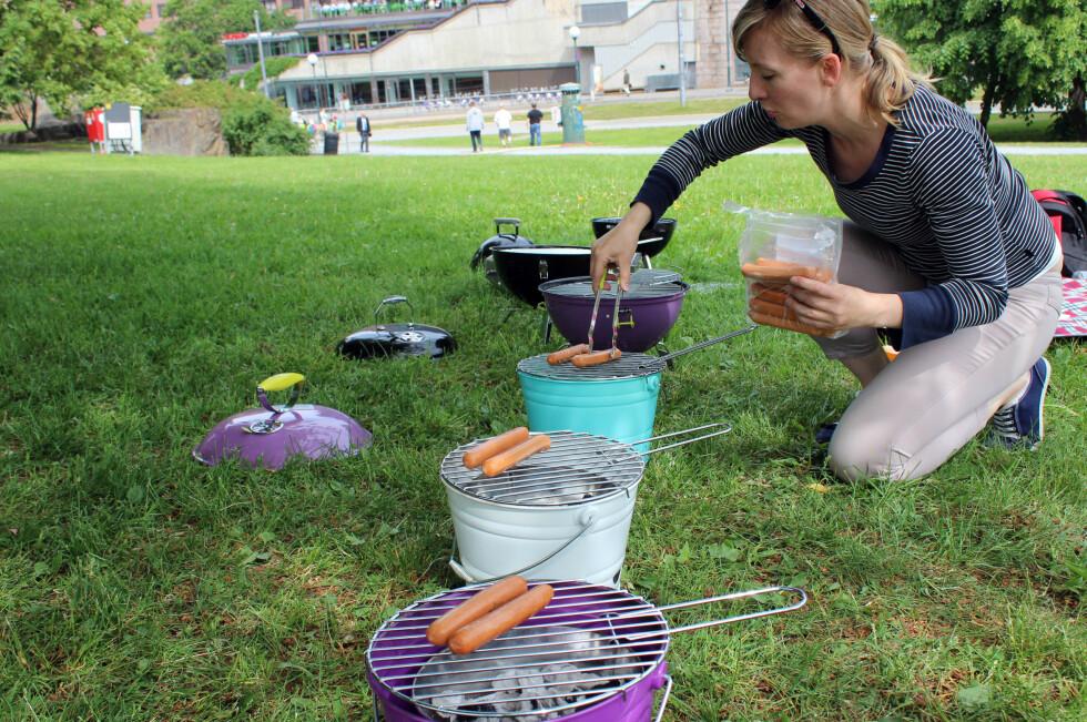 TEST AV TURGRILLER: Vi har testet sju turgriller under 400 kroner. Og jada, selv de minste får jobben gjort! Foto: KRISTIN SØRDAL