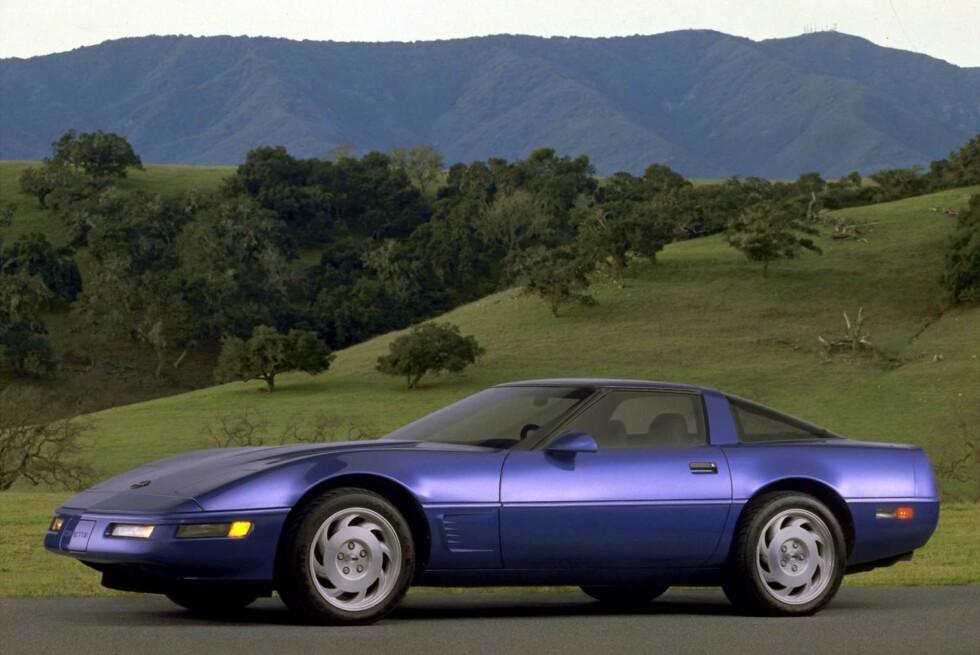 SPAR TUSENER: Henter du en 1984 Chevrolet Corvette C4 fra Sverige, kan du spare 34 000 kroner.   Foto: CHEVROLET