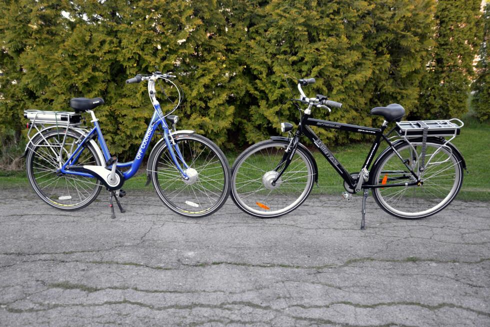 Både Clas Ohlson og Biltema har rimelige el-sykler, men med noen viktige forskjeller. Foto: BRYNJULF BLIX