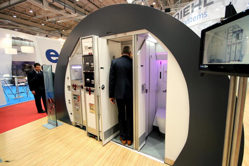 HØYTFLYVENDE PRIVATLIV: Toaletter kan følge med flyet når du kjøper det, men du kan også velge ditt eget, som dette. Foto: OLE PETTER BAUGERØD STOKKE