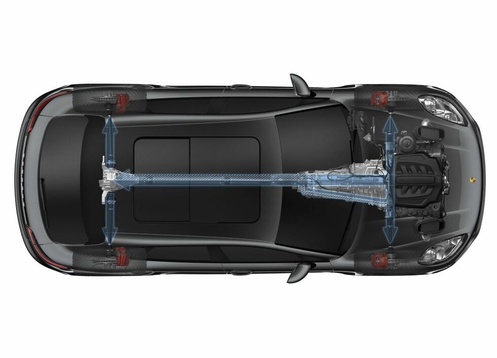 Porsche Macan blir fysisk mindre enn Cayenne, men står ikke tilbake for noe med tanke på det tekniske.  Foto: Porsche