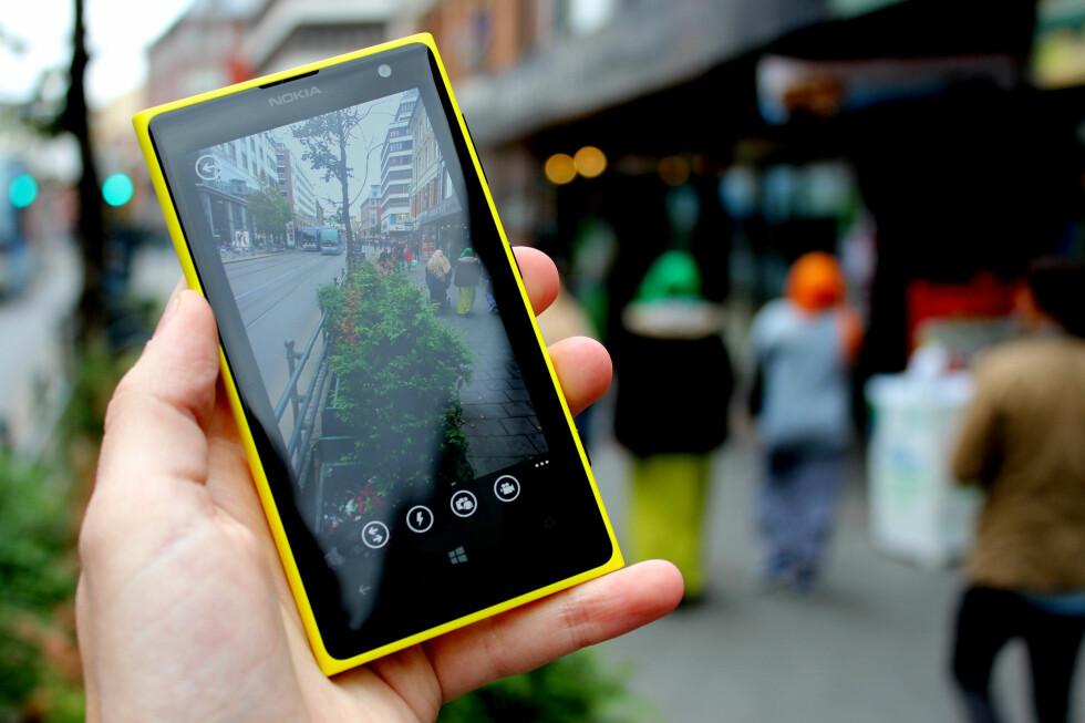 PEN: Nokia Lumia 1020 ser bra ut og tar bra bilder. Da blir det bra saker.  Foto: Ole Petter Baugerød Stokke