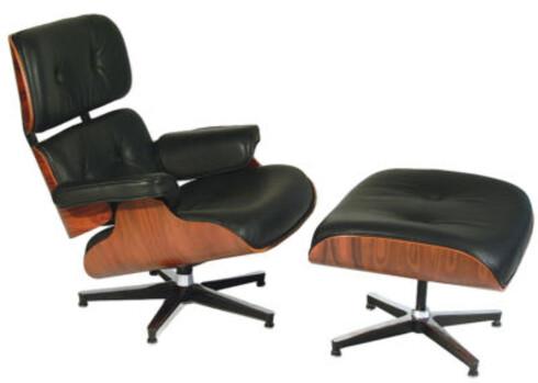 INSPIRASJONEN: Retningen innen møbeldesignet kan ha startet med denne: Eames Lounge Chair fra 1956.  Foto: Public domain