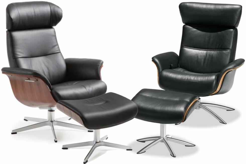 "SETT PÅ MAKAN: Conform Collection sin stol TimeOut til venstre, Møbelringens Macan-stol til høyre. Ikke så ""makan"" at den bryter loven, mener Næringslivets Konkurranseutvalg.  Foto: Møbelringen/Conform Collection/Ole Petter Baugerød Stokke"