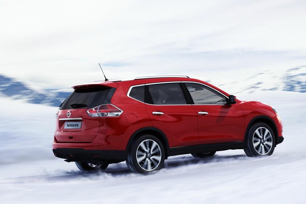 Nye X-Trail har selvsagt vært gjenstand for vinter-testing før lanseringen og, hvis prisen blir riktig, kan Nissan her ha en ny norgesbil å tilby stadig mer SUV-sultne norske kunder. Den blir for øvrig også tilgjengelig som syvseter. Foto: Nissan