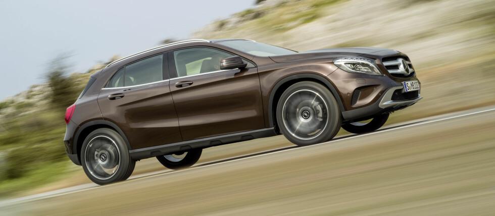 Mercedes-Benz GLA skal vises for massene på bilutstillingen i Frankfurt i september.  Foto: Produsenten