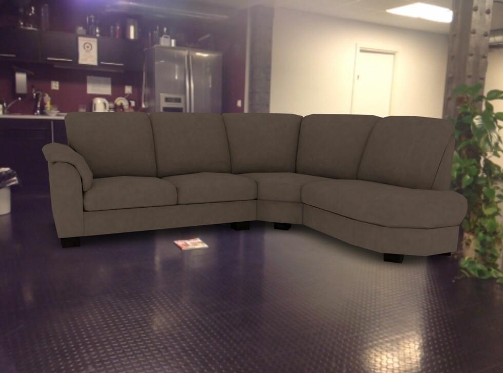 Du får ikke velge farge på sofaen. Foto: IKEA
