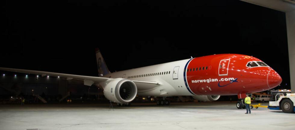 Søndag kommer Norwegians første Dreamliner til Oslo Gardermoen. Foto: NORWEGIAN
