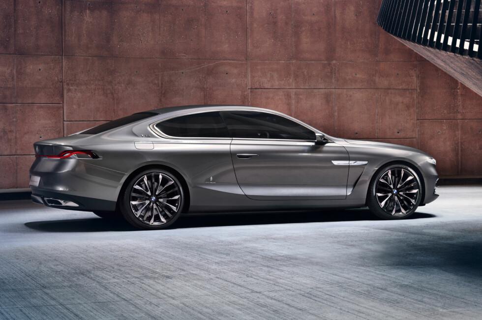 """MEKTIG FORMSPRÅK: Dette er riktignok en såkalt """"one off"""", et unikt eksemplar, men mange spør seg nå om den ikke viser oss hvordan BMW tenker seg en kommende 8-serie. Foto: BMW"""