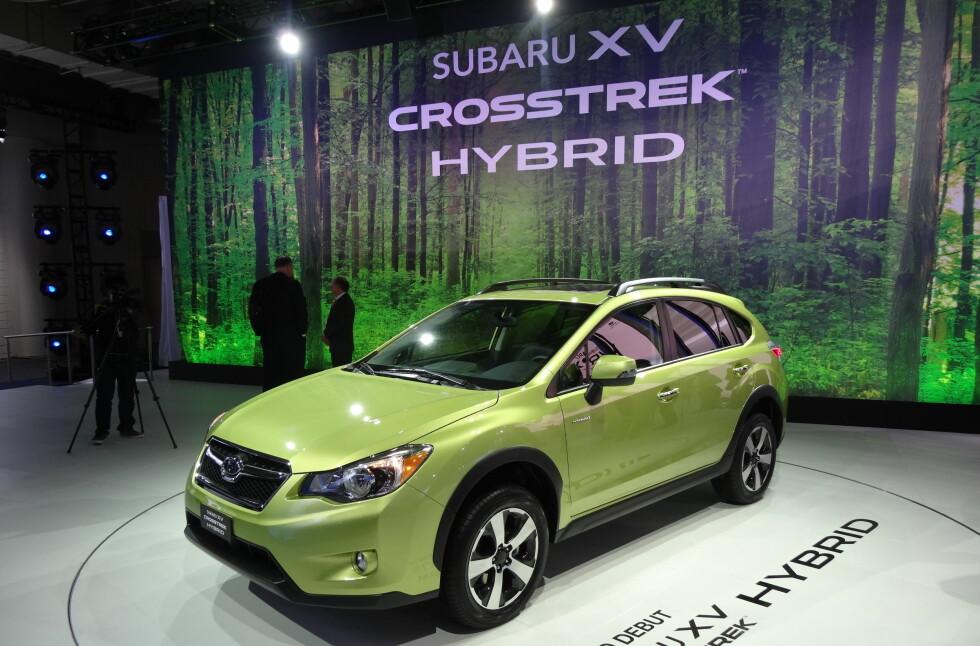 Den første bilen fra Subaru med hybrid drivlinje er i ferd med å se dagens lys.  Foto: Fred Magne Skillebæk