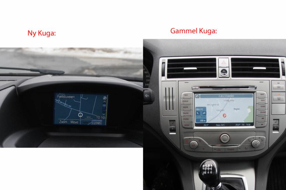 Den nye GPS-skjermen er liten, men fungerer likevel bra pga høyere oppløsning og bedre skjerm. Foto: Øyvind P