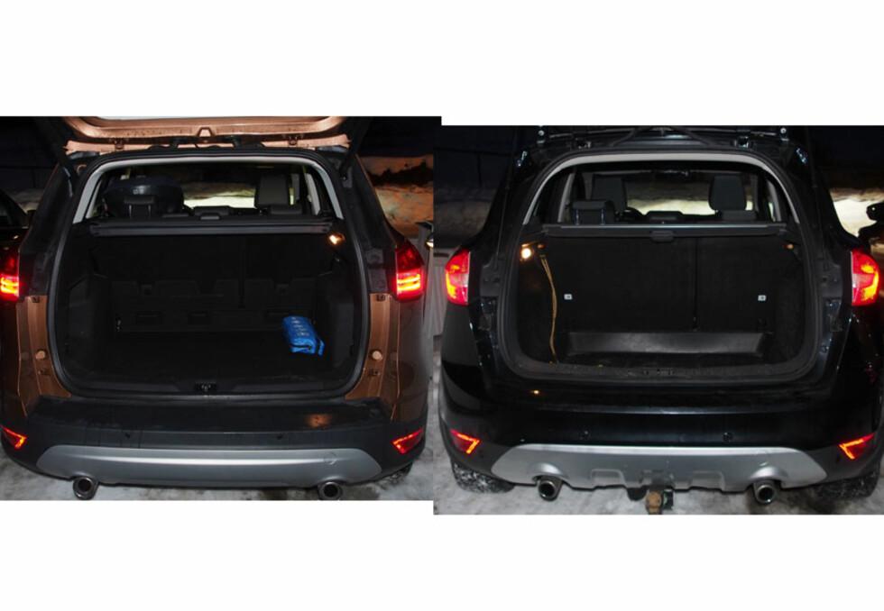 2013-modellen til venstre, og 2009-modellen til høyre. Foto: Øyvind P
